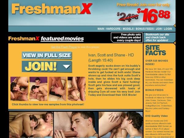 Freshmanx.com Login Information