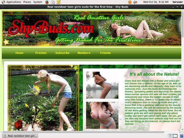 Shy Buds New