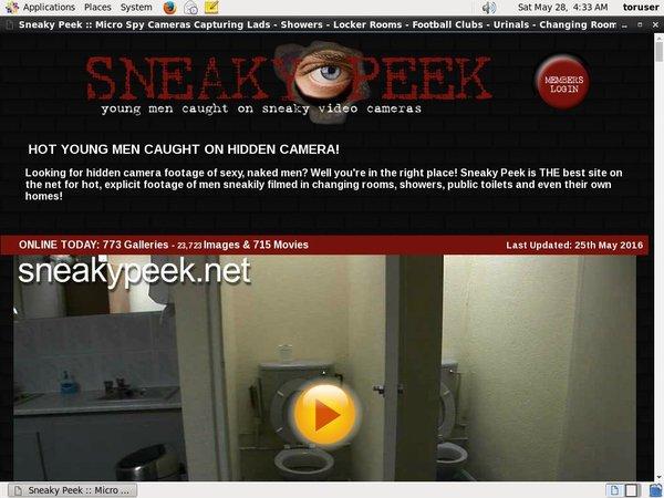 Sneaky Peek Join